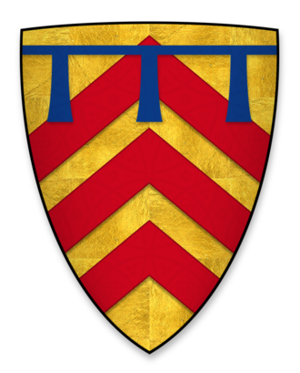 Gilbert de Clare, 5th Earl of Gloucester - Image: Coat of arms of Gilbert de Clare, heir to the earldom of Hertford