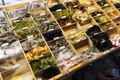Colorful supply of fish lures and hooks at the Cutthroat Anglers fly-fishing shop in Silverthorne, Colorado LCCN2015633689.tif