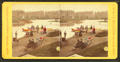 Colorized view of people walking on a path and at the boat launch, by Moulton, John S., b. 1820 or 1.png