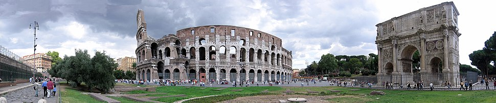 The Colosseum and the Arch of Constantine.