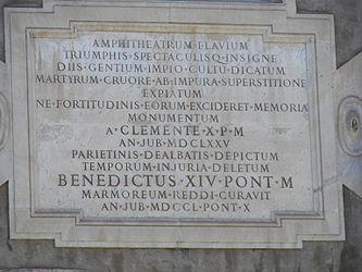 Colosseum dedication 2.jpg