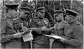 Commander of 75th RD Gen. Gorishnii V.A. and Commanders of the Regiments. 1944.jpg