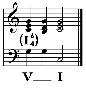 Predominant chord - Image: Common Cadential Progression Alt