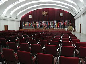 Bandung Conference - Plenary hall of the conference building