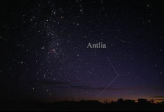 Antlia - The constellation Antlia as seen by the naked eye