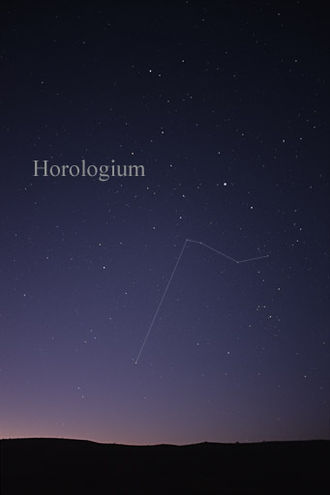 Horologium (constellation) - The constellation Horologium as it can be seen by the naked eye.