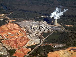 Vogtle Electric Generating Plant - Construction underway at Vogtle, October 2011