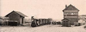 Berck - Image: Convoi en gare de Merlimont (ligne Berck Le Touquet)