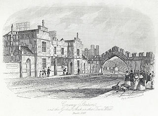 Conway Station, and the Gothic arch in the Town Wall; Built 1847