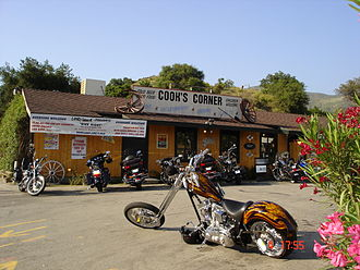 Cook's Corner - Bikes in front of Cook's Corner, circa 2005
