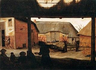Farmyard with a Beggar