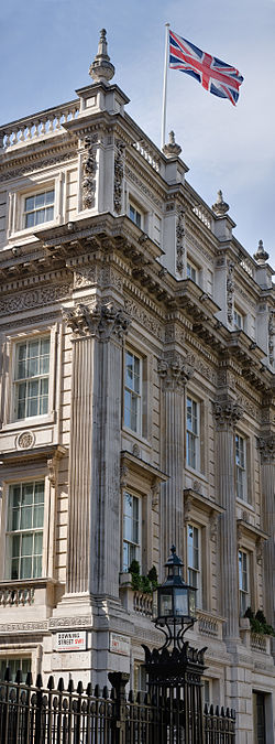 Corner of Downing St and Whitehall, London - May 2008.jpg