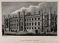 Corpus Christi College, Cambridge. Line engraving by E.F. McCab Wellcome V0014097.jpg