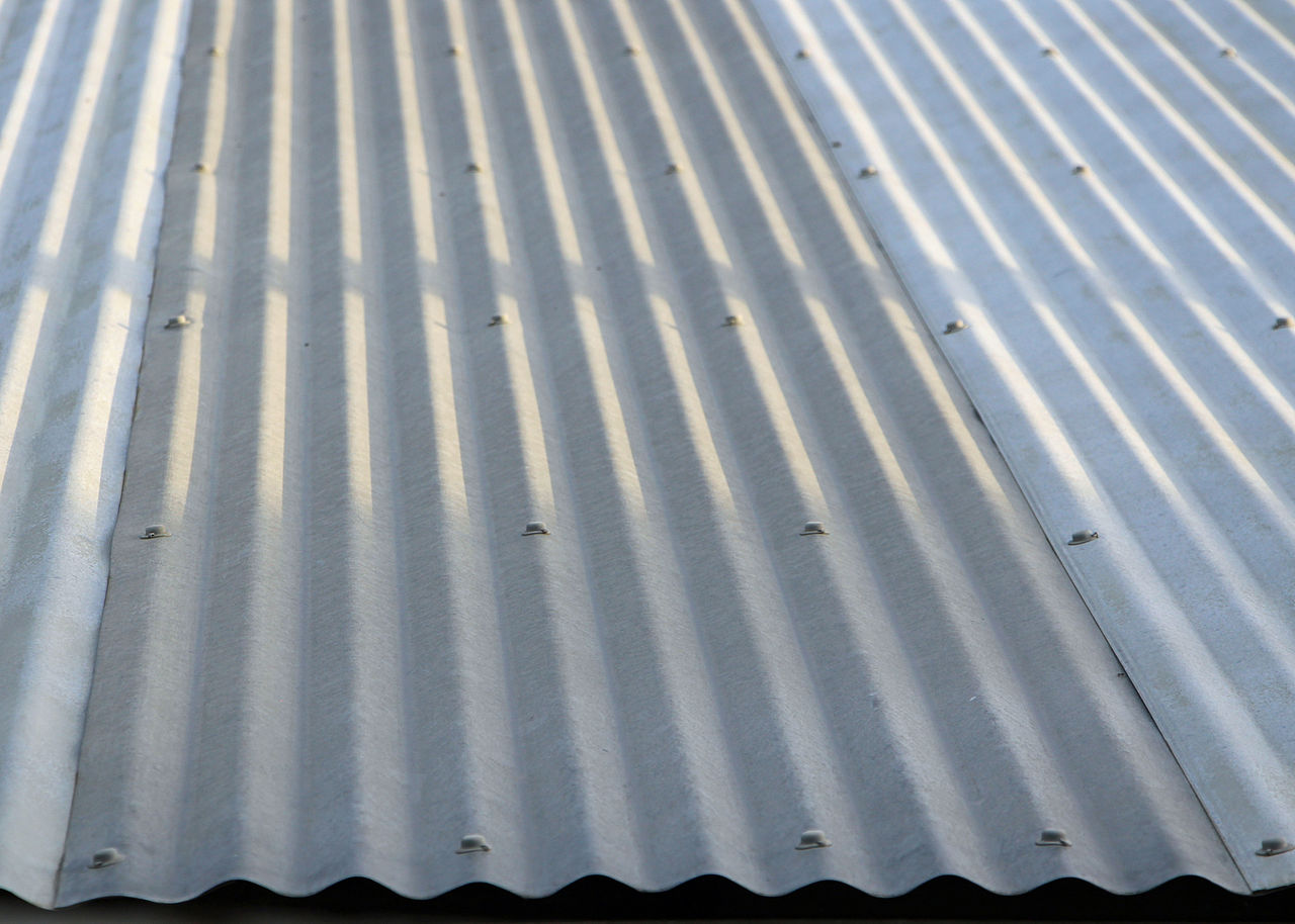 Corrugated Metal Sheeting Painted Mp  Platinum Sparkle Metallic