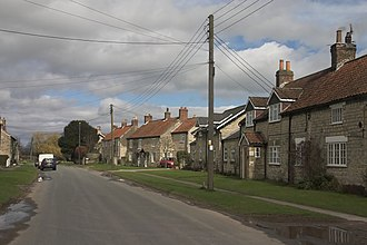 Slingsby, North Yorkshire - Image: Cottages in Slingsby geograph.org.uk 144788