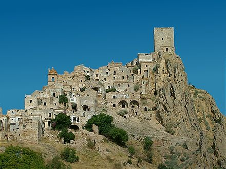 Craco, Italy, was abandoned due to a landslide in 1963. It has since become a popular film set.