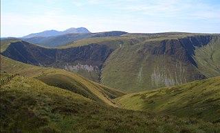 Cribin Fawr 658m high mountain in Wales