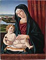 Cristoforo Caselli, Madonna and Child with a rose on a venetian lagoon backgroundFXD.jpg