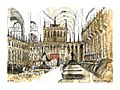 Croquis- Auch - les stalles de la cathédrale - France (14413947665).jpg