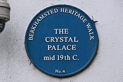 Photo of The Crystal Palace, Berkhamsted blue plaque