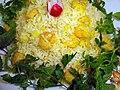 Cuisine of Iran آشپزی ایرانی 09-خوراک میگو با برنج و سبزی.jpg