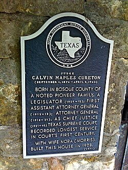 Photo of Calvin Maples Cureton and Nora Cureton black plaque