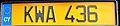 Cyprus license plate 2012 KWA 436 rear.jpg