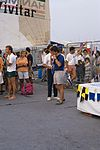 Dériveurs 18 pieds australiens au Salon Nautique International à Flot de La Rochelle 1987 (34).jpg