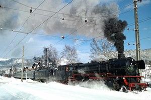 DRB Class 41 - 41 018 in Seefeld, Tirol, December 2011