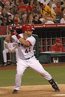 Napoli batting for the Angels in 2007年.right