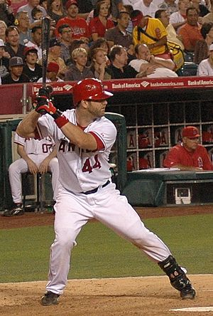 Mike Napoli - Napoli batting for the Los Angeles Angels in 2007