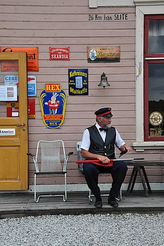 Dalhem, Gotland - Image: Dalhem museijärnväg b (2)