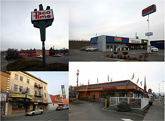 1984 Rajneeshee bioterror attack - Four of the restaurants in The Dalles affected by the attack