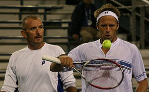 Martin Damm - Martin Damm (left), with doubles partner Robert Lindstedt (right)