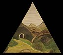Dana Smith - Triangular Mountainscape with Tunnel - 1986.65.140 - Smithsonian American Art Museum.jpg