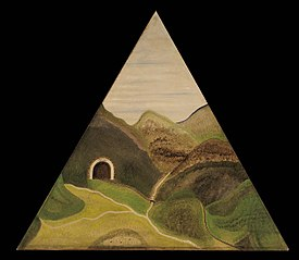 Triangular Mountainscape with Tunnel