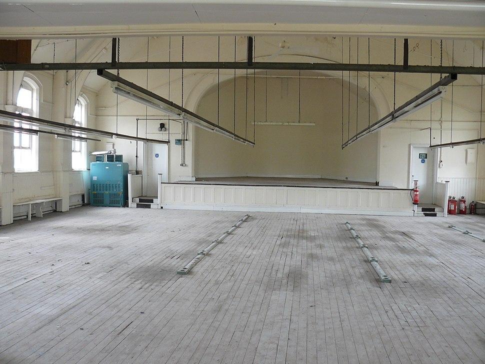 Dance hall prior to renovation