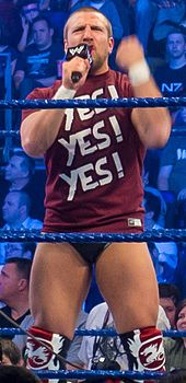Daniel Bryan   Wikipedia Wikipedia Bryan in his signature  quot Yes  quot  T shirt while addressing the audience