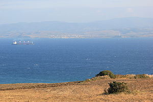 View over the Dardanelles from Europe to Asia