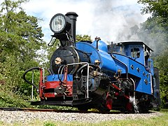 Larger blue locomotive