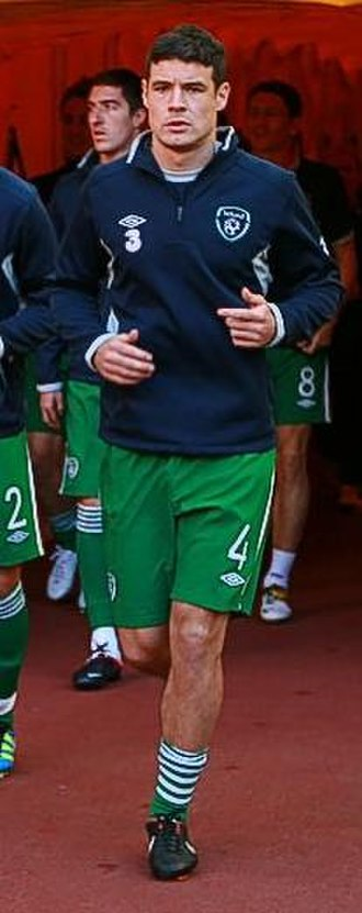 Darren O'Dea - Darren O'Dea with Ireland before the UEFA Euro 2012 qualifying Group B game against Russia in Moscow, 6 September 2011