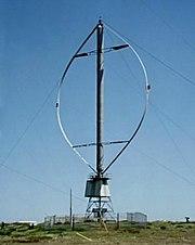 30 m Darrieus wind turbine in the Magdalen Islands