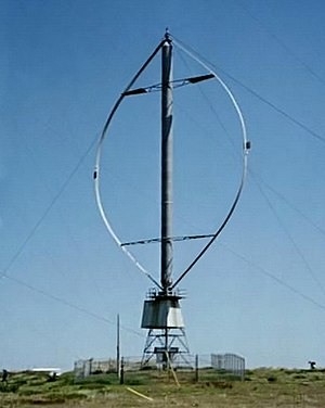 Fig. 1: A Darrieus wind turbine once used to g...
