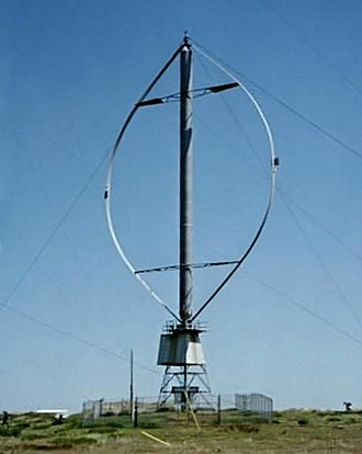 Darrieus wind turbine - Fig. 1: A Darrieus wind turbine once used to generate electricity on the Magdalen Islands