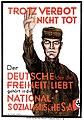 Daspolitischepla00scho 0188 Erwin Schockel Das politische Plakat 1938 German political posters Trotz Verbot Nicht Tot Nationalsozialistiche SA NSDAP Reichstagswahl 1924 ? No known copyright restrictions.jpg