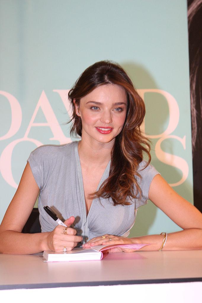File David Jones Fashion Ambassador Miranda Kerr In Store Book Signing Kora Organics