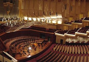 San Francisco Symphony - Image: Davies Hall Interior Pano Cropped