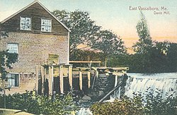 Davis Mill in East Vassalboro, in 1910