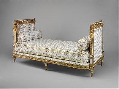 Daybed (Lit de repos or sultane) (part of a set) MET DP158382.jpg