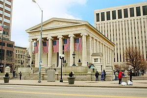 Old county courthouse, an example of Greek rev...